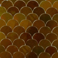 Brown Fish Scales Moroccan Tile