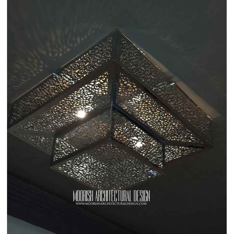 Moroccan flush mounted ceiling light