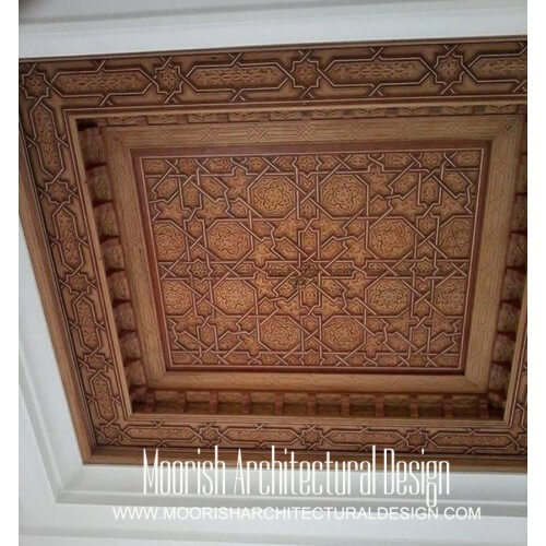 Arabian wood ceiling design idea