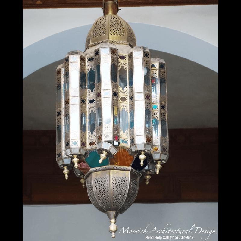 Moroccan Style Colored Glass Lantern